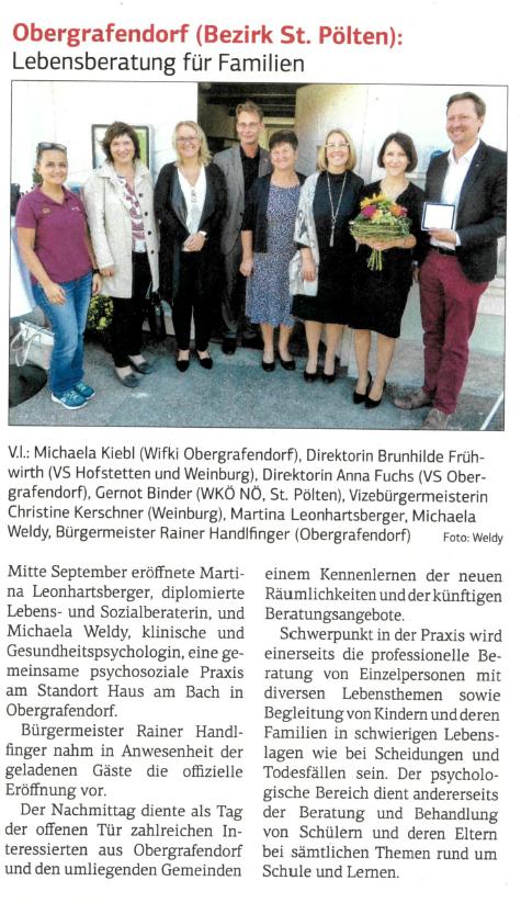 Niederösterreichische Wirtschaft, 29.09.2017